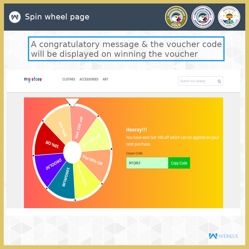 module - Promotions & Gifts - Spin and Win - 4