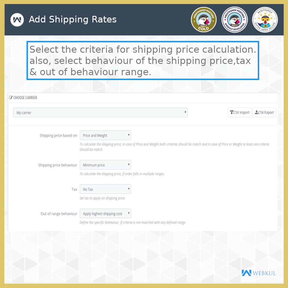 module - Shipping Carriers - Shipping Rates - 11