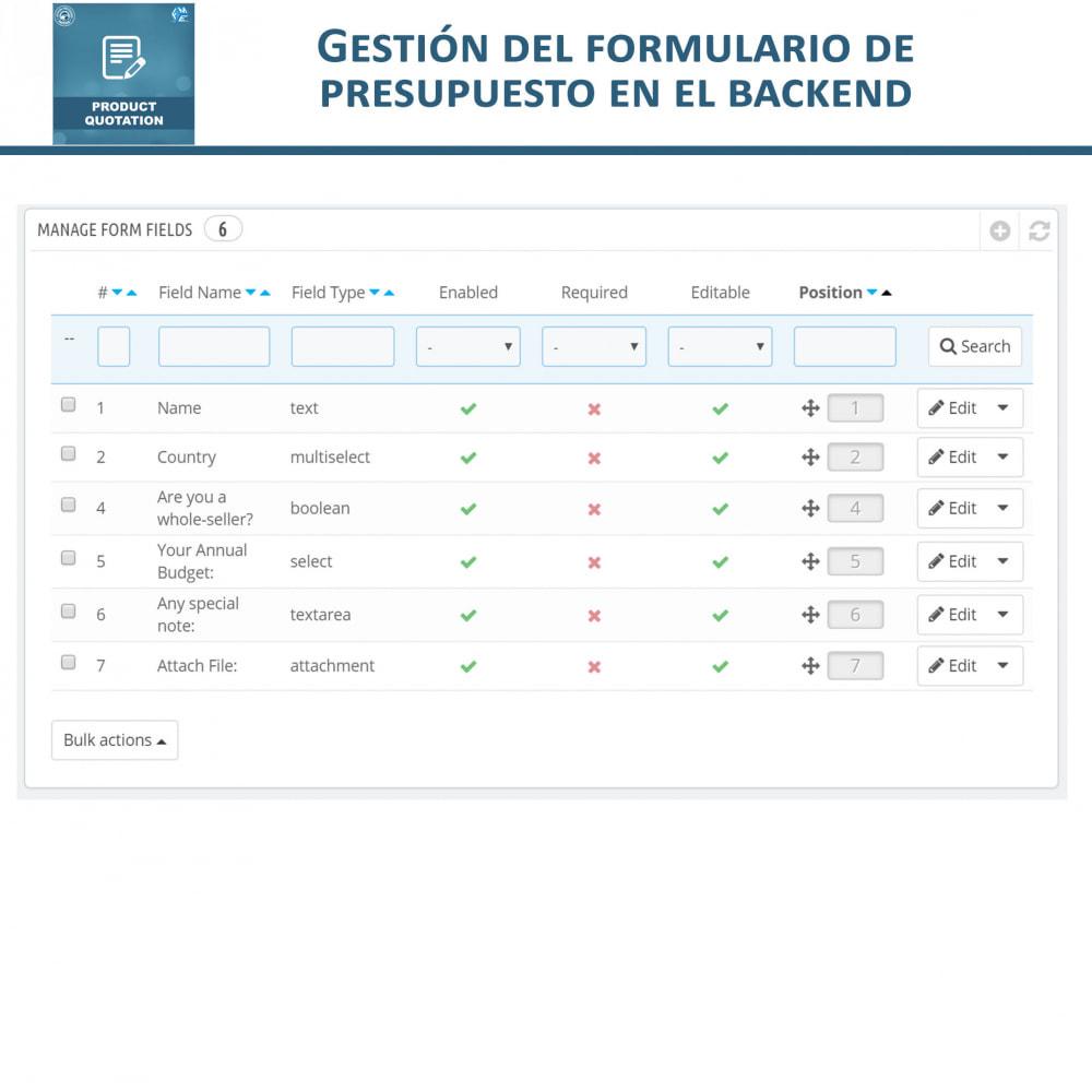 module - Presupuestos - Cotización de Producto - Permitir al Cliente Cotizar - 15