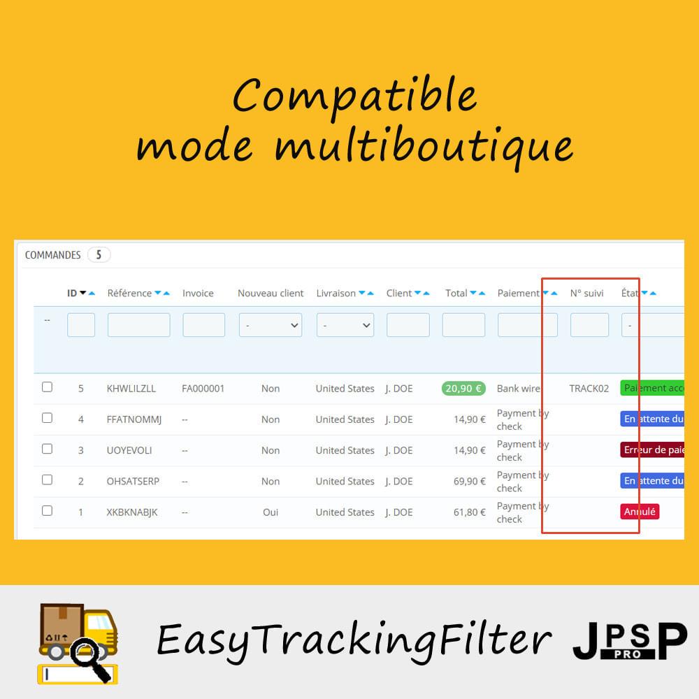 module - Suivi de livraison - Rechercher par numéro de suivi - Easy Tracking Filter - 1