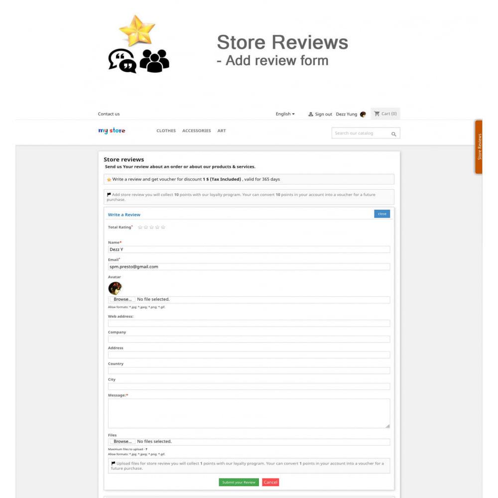 module - Avis clients - Avis sur les produits + Boutique, Programmes fidélité - 12