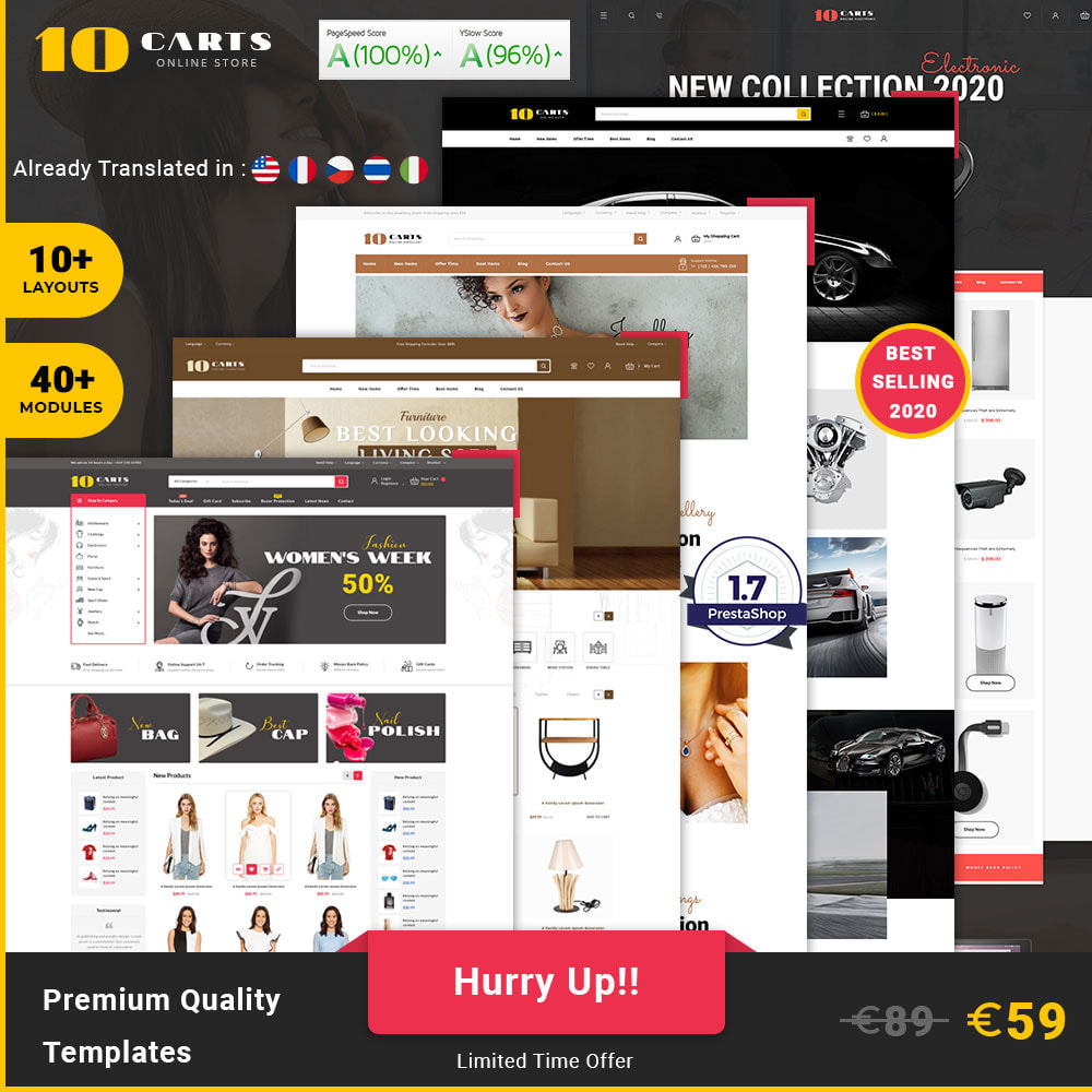 theme - Mode & Schoenen - 10carts online fashion store - 1