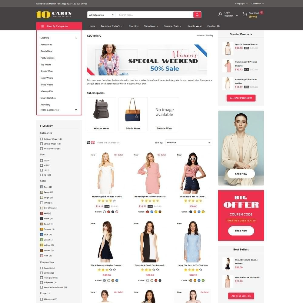 theme - Moda y Calzado - 10carts online fashion store - 3