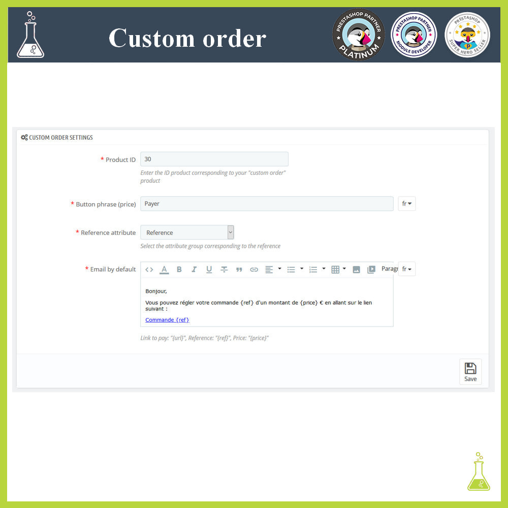 module - Order Management - Custom order - 2