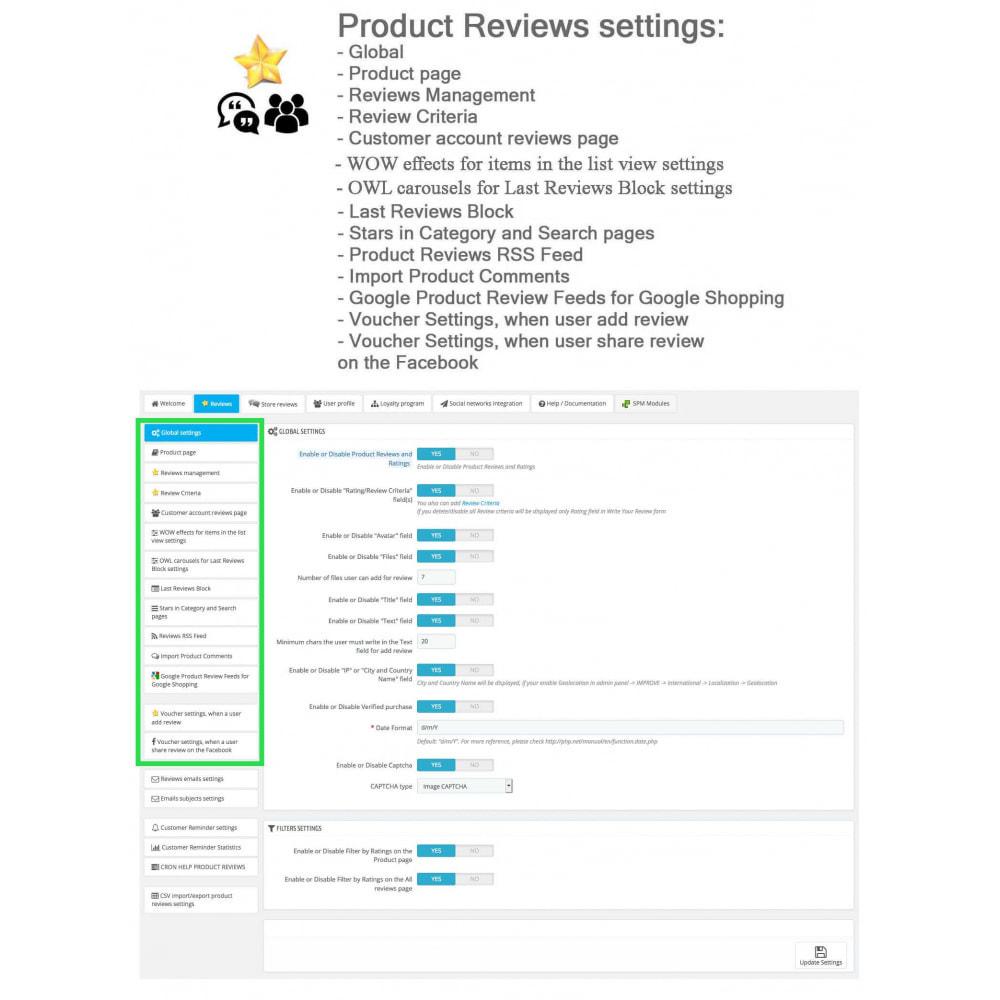 module - Recensioni clienti - Product Reviews+Shop Reviews, Loyalty Program, Reminder - 34
