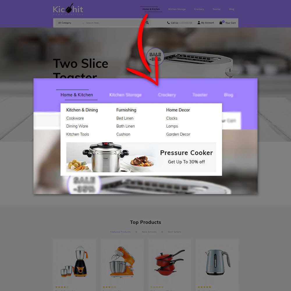 theme - Дом и сад - Kichit - kitchen Essential Store - 6