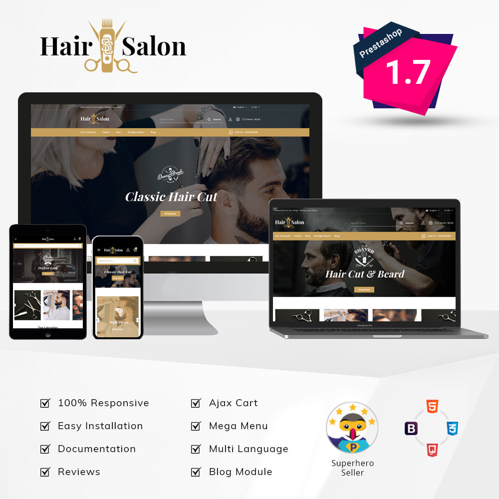 theme - Health & Beauty - Hair - Salon Store - 1