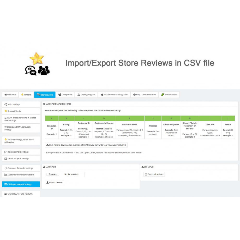 module - Kundenbewertungen - Product Reviews+Shop Reviews, Loyalty Program, Reminder - 43