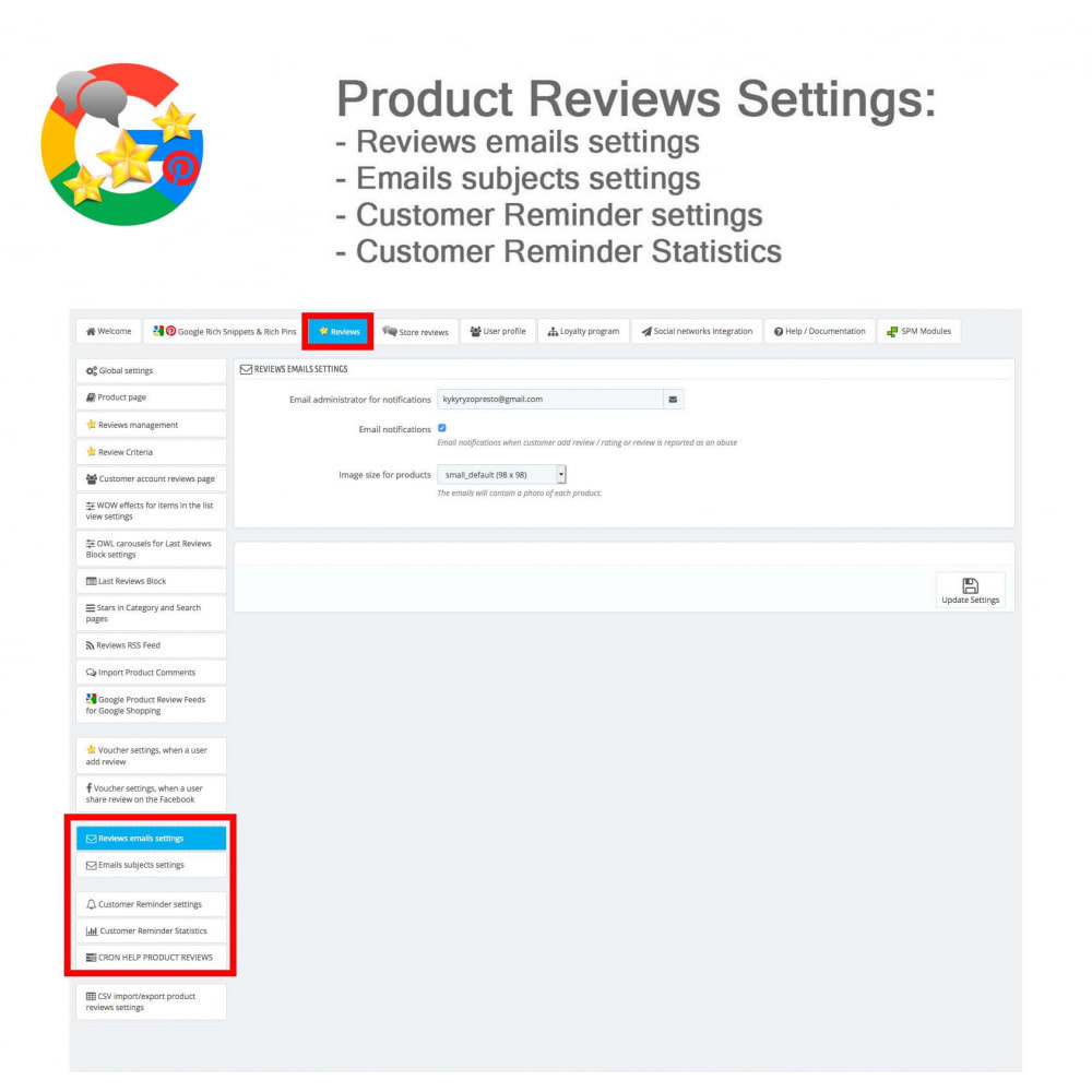 module - Opinie klientów - Product, Shop Reviews, Loyalty Program, Google Snippets - 41