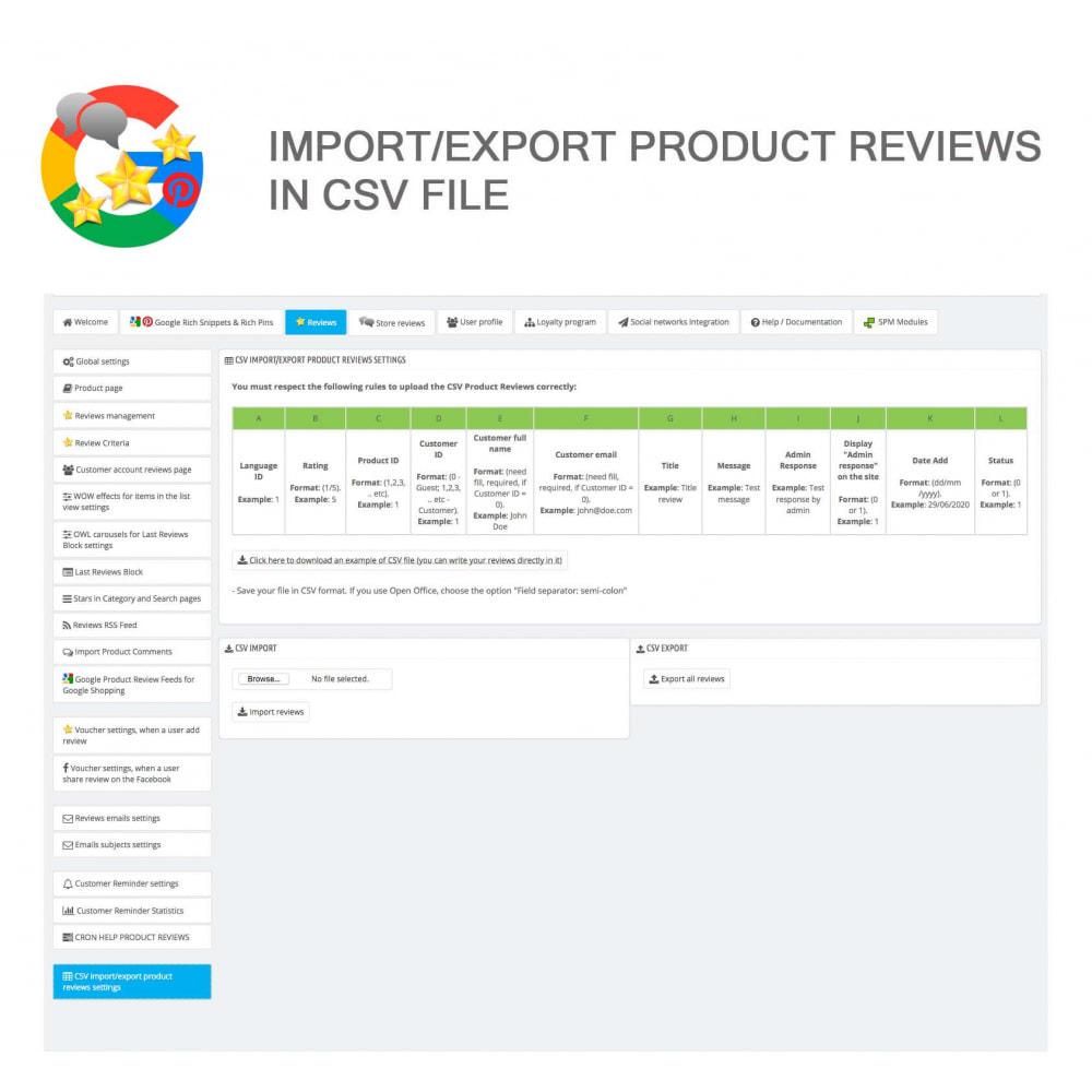 module - Opinie klientów - Product, Shop Reviews, Loyalty Program, Google Snippets - 44
