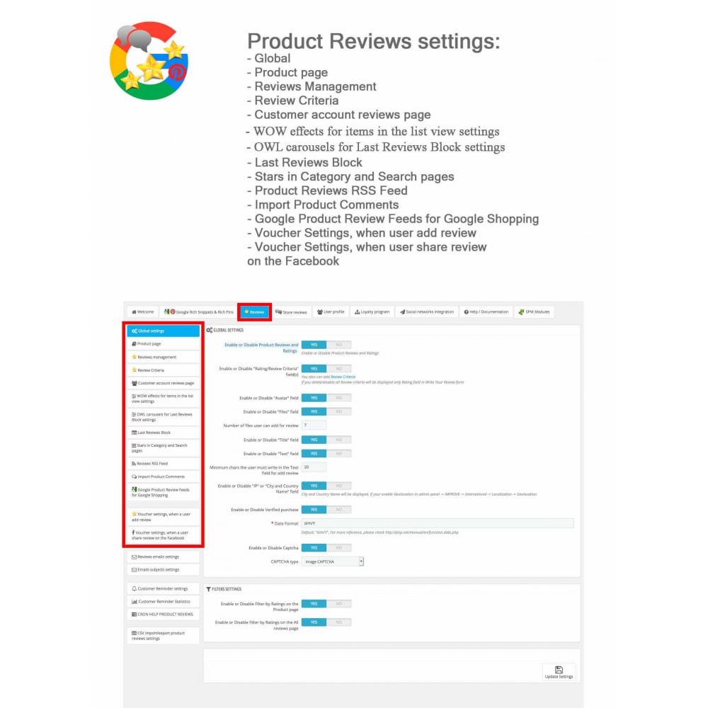module - Avis clients - Produit+Boutique Avis, Points fidélité, Google Snippets - 40