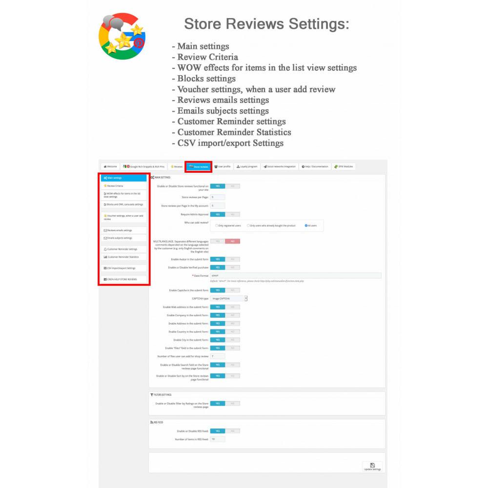 module - Avis clients - Produit+Boutique Avis, Points fidélité, Google Snippets - 46