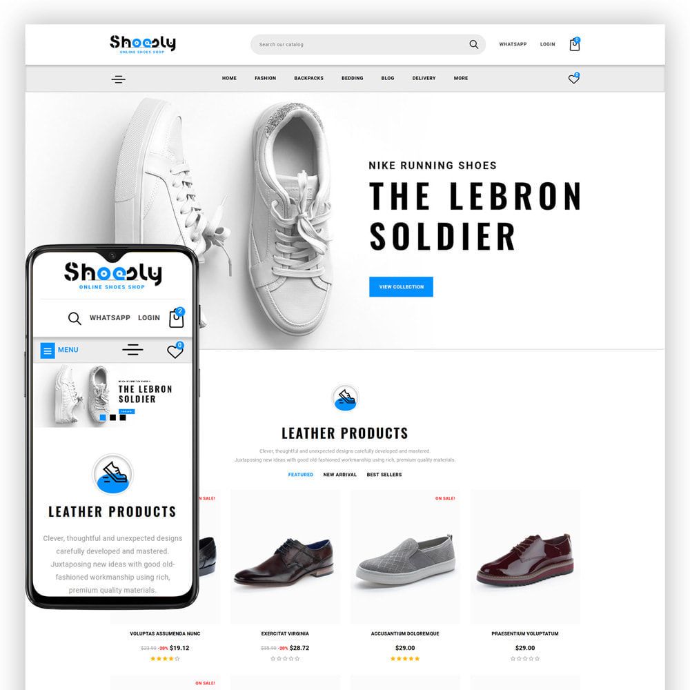 theme - Fashion & Shoes - Shoosly - Shoes Store - 1