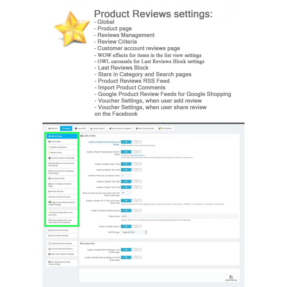 module - Social Widget - Product Reviews PRO + Loyalty Program + User Profile - 31
