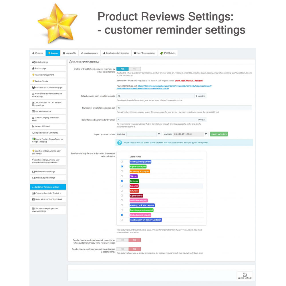 module - Widgets de Redes Sociais - Product Reviews PRO + Loyalty Program + User Profile - 33