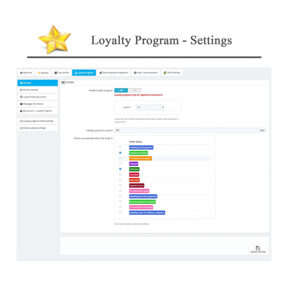 module - Sociale Widgets - Product Reviews PRO + Loyalty Program + User Profile - 38