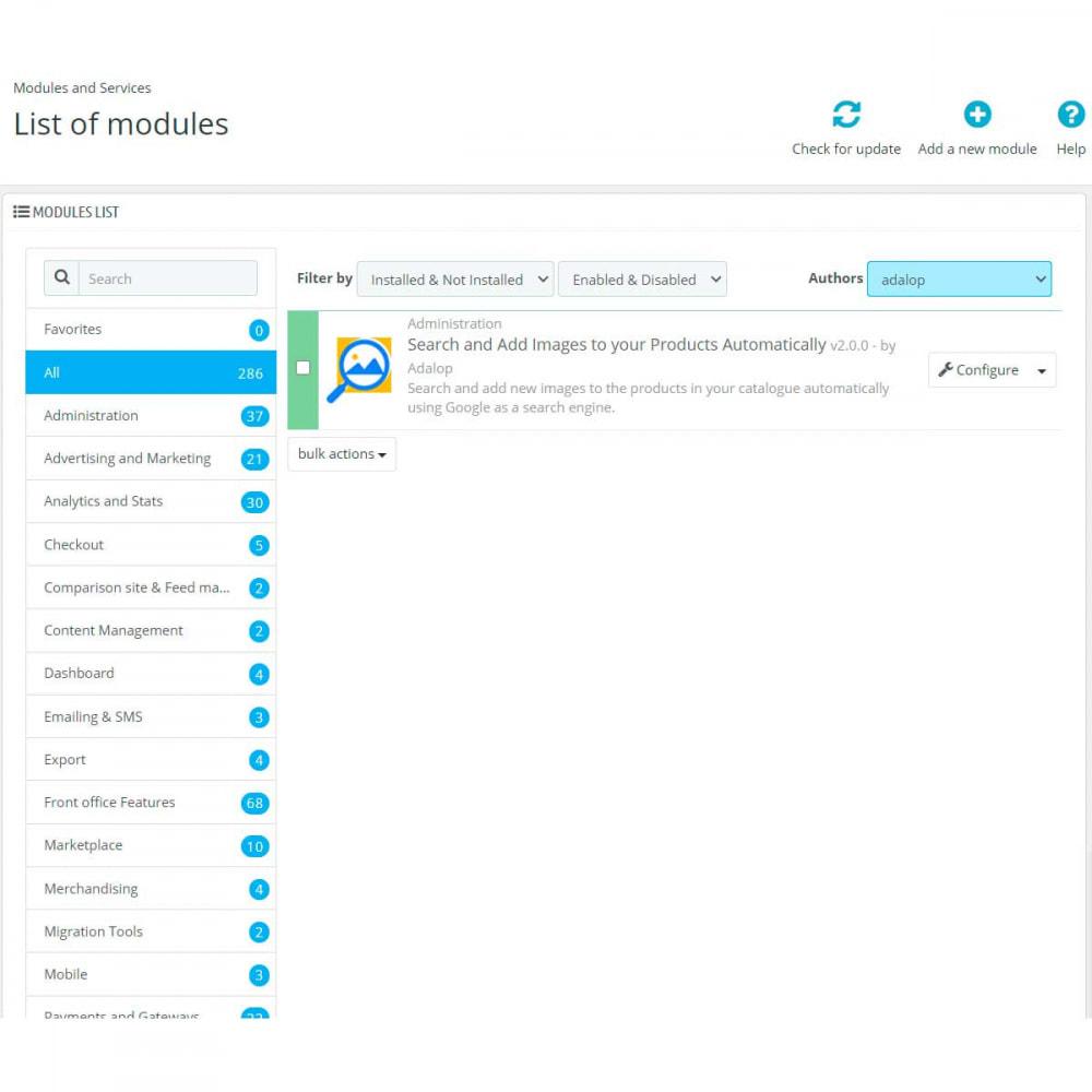 module - Recherche & Filtres - Transférez des images de Google sur vos produits - 2