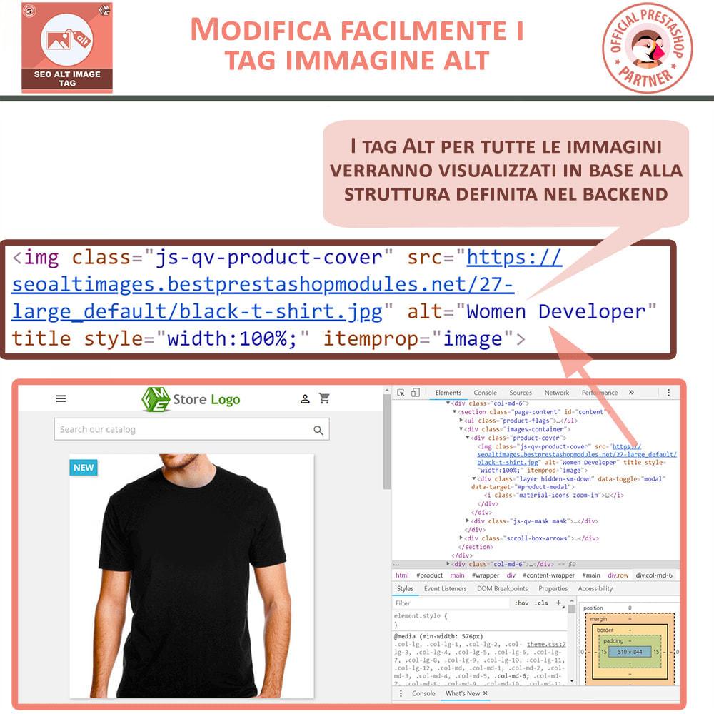 module - SEO (Indicizzazione naturale) - SEO Alt Image Tags - Alt Immagini Tag (Automatico) - 2