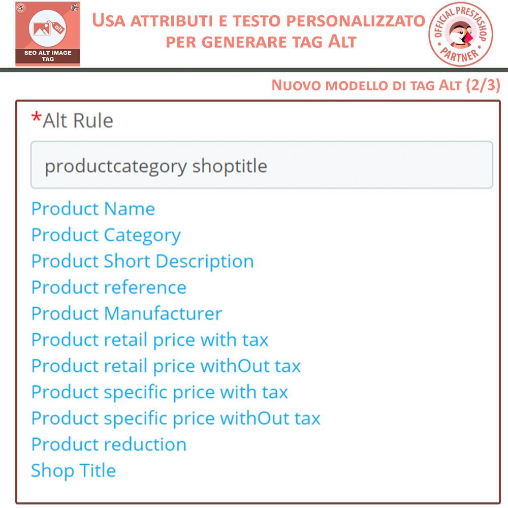 module - SEO (Indicizzazione naturale) - SEO Alt Image Tags - Alt Immagini Tag (Automatico) - 6