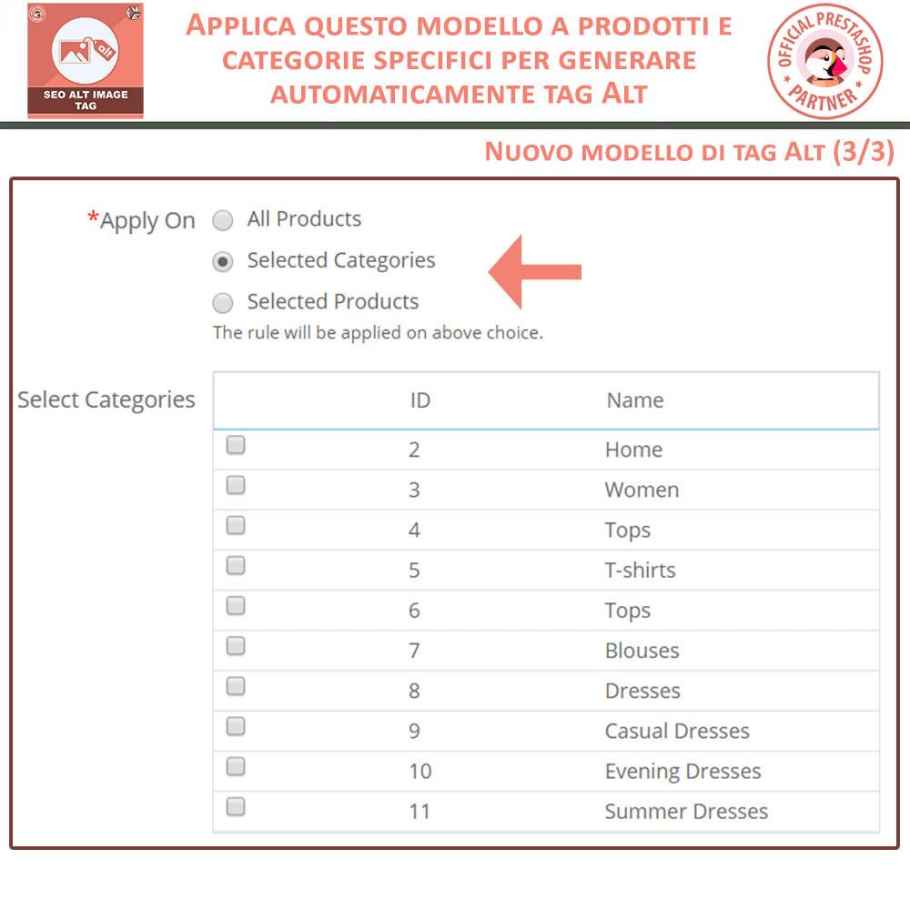 module - SEO (Indicizzazione naturale) - SEO Alt Image Tags - Alt Immagini Tag (Automatico) - 7