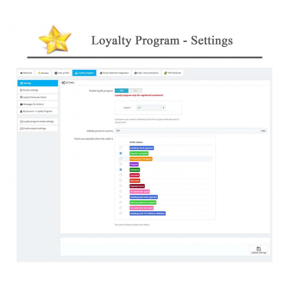 module - Widgets réseaux sociaux - Produit Avis + Programmes fidélité + Profil utilisateur - 38
