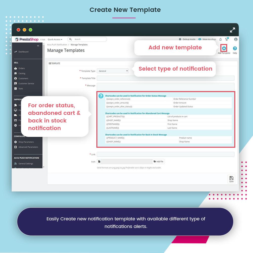 module - Email & Notifiche - Accu Smart Web Push Notification - 12