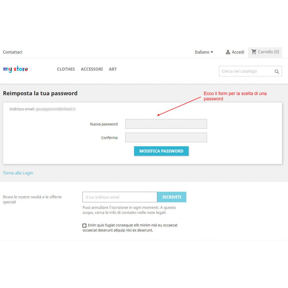 module - Gestione clienti - Trasforma l'account ospite in account cliente - 6