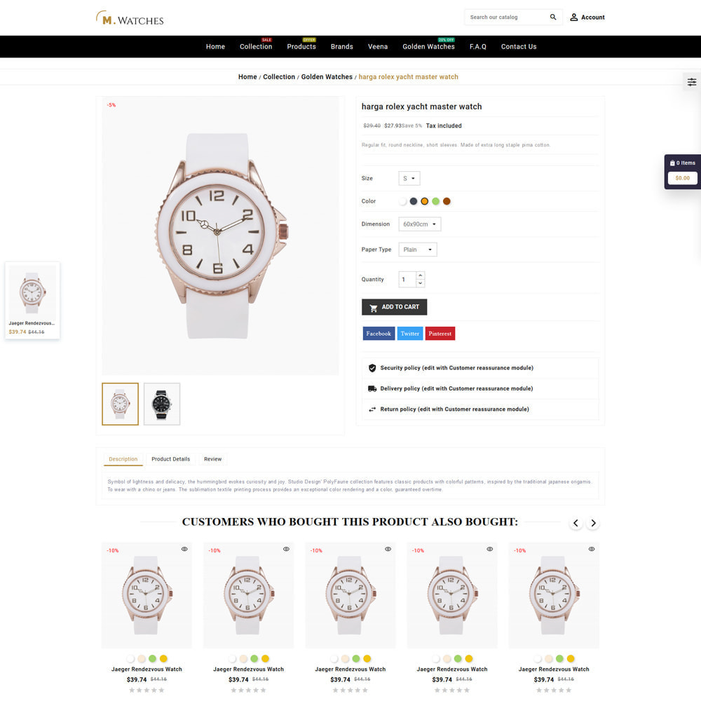 theme - Jewelry & Accessories - M. Watches Store - 5