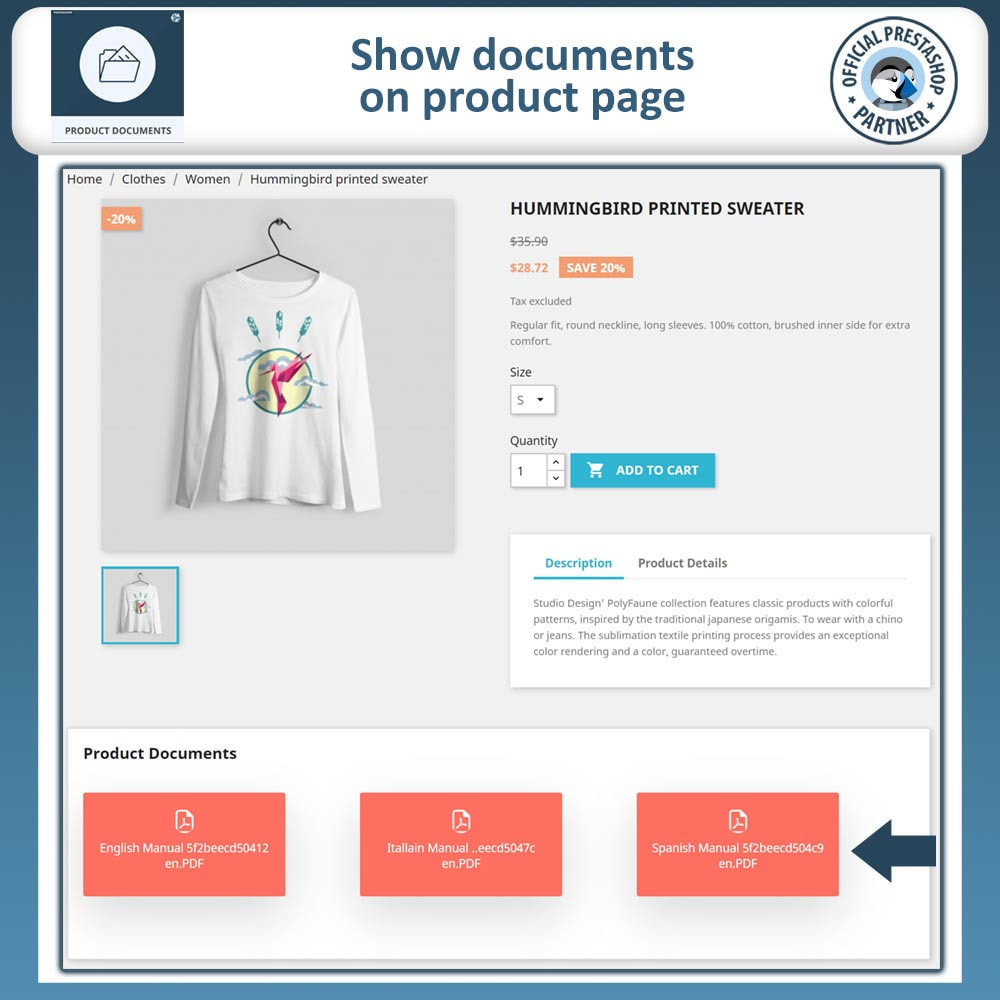 module - Additional Information & Product Tab - Product Documents - 2