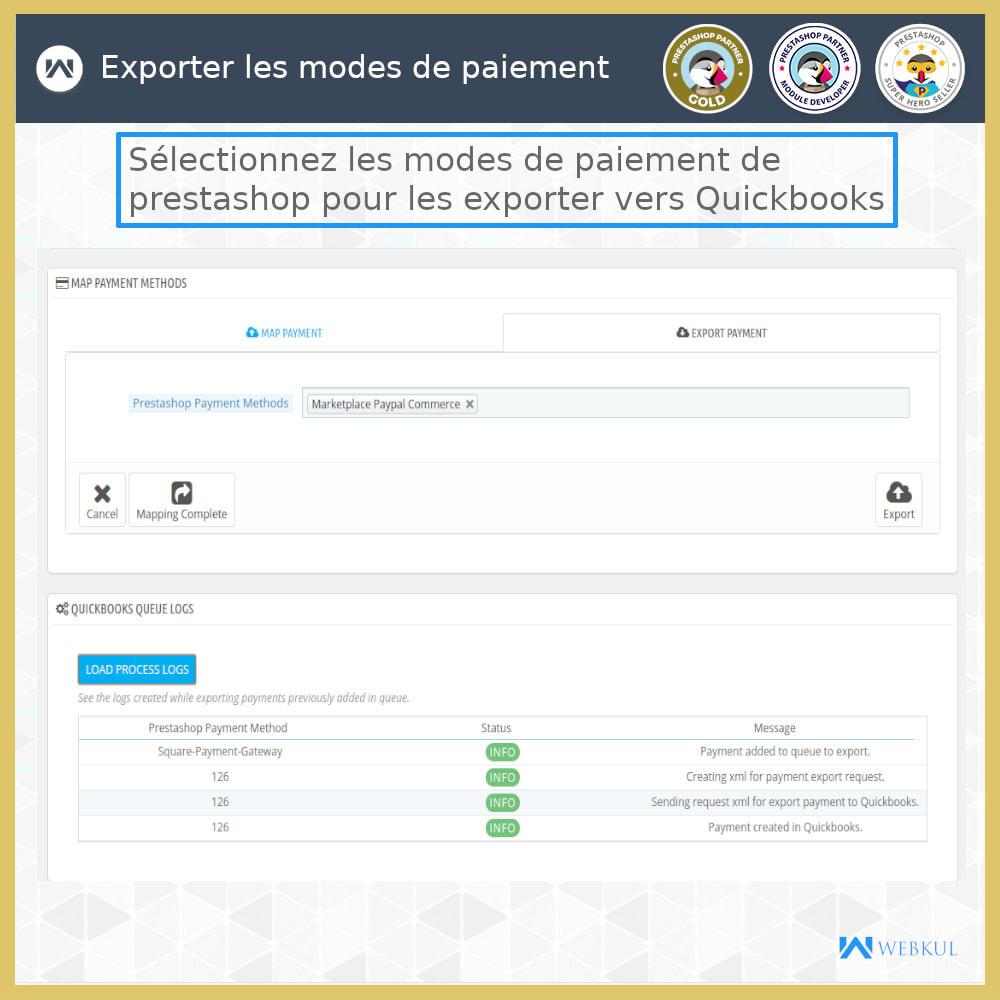module - Connexion à un logiciel tiers (CRM, ERP...) - Connecteur de bureau QuickBooks - 10