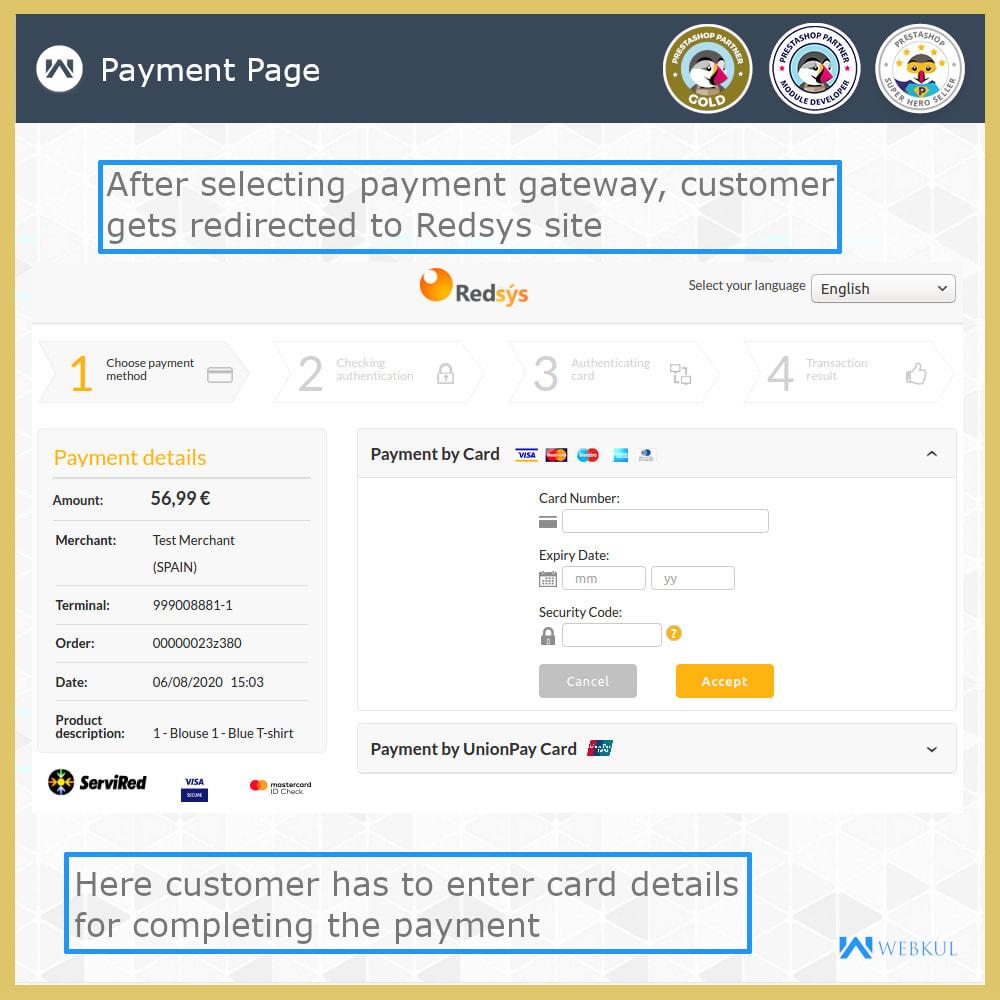 module - Płatność kartą lub Płatność Wallet - Redsys Payment Gateway - 5