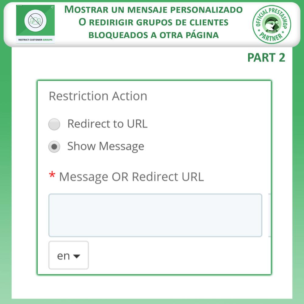 module - Informaciones adicionales y Pestañas - Restringe por grupos de clientes -  Catálogo y CMS - 5