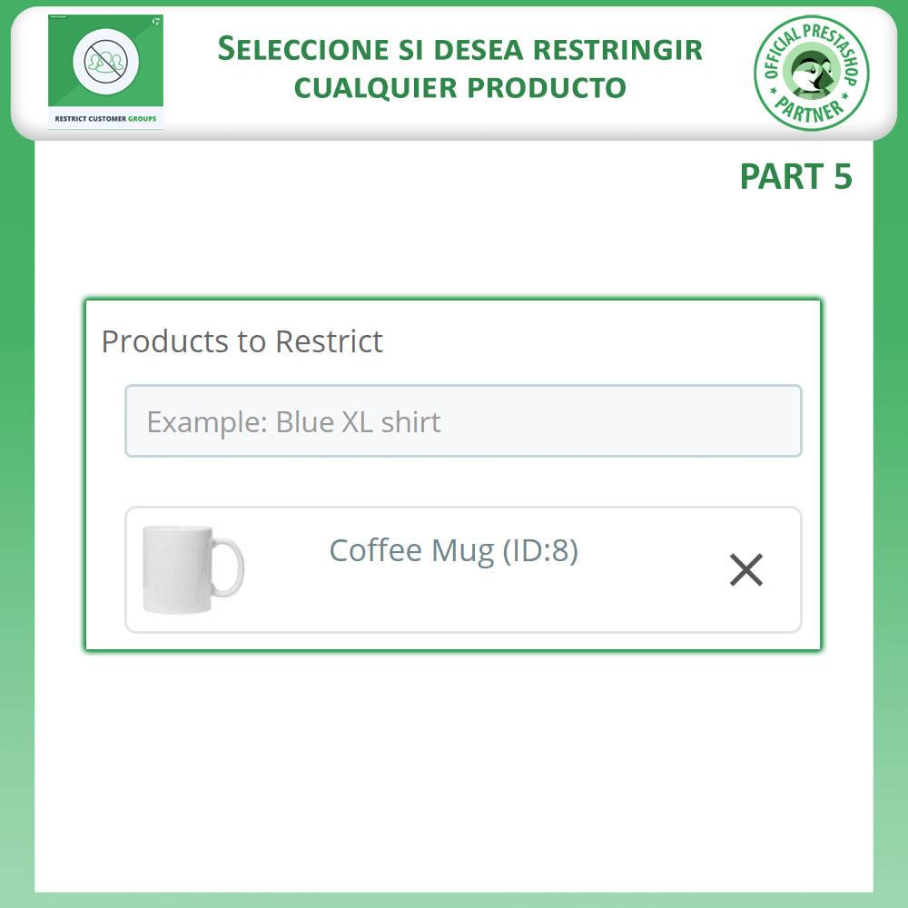 module - Informaciones adicionales y Pestañas - Restringe por grupos de clientes -  Catálogo y CMS - 8