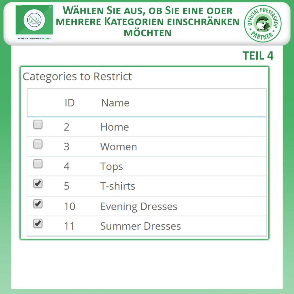 module - Zusatzinformationen & Produkt-Tabs - Katalog & CMS-Seiten nach Kundengruppen beschränken - 7