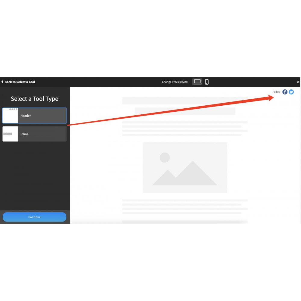 module - Widgets sozialer Netzwerke - Advanced Social Media Share Side Bar Links Buttons - 5