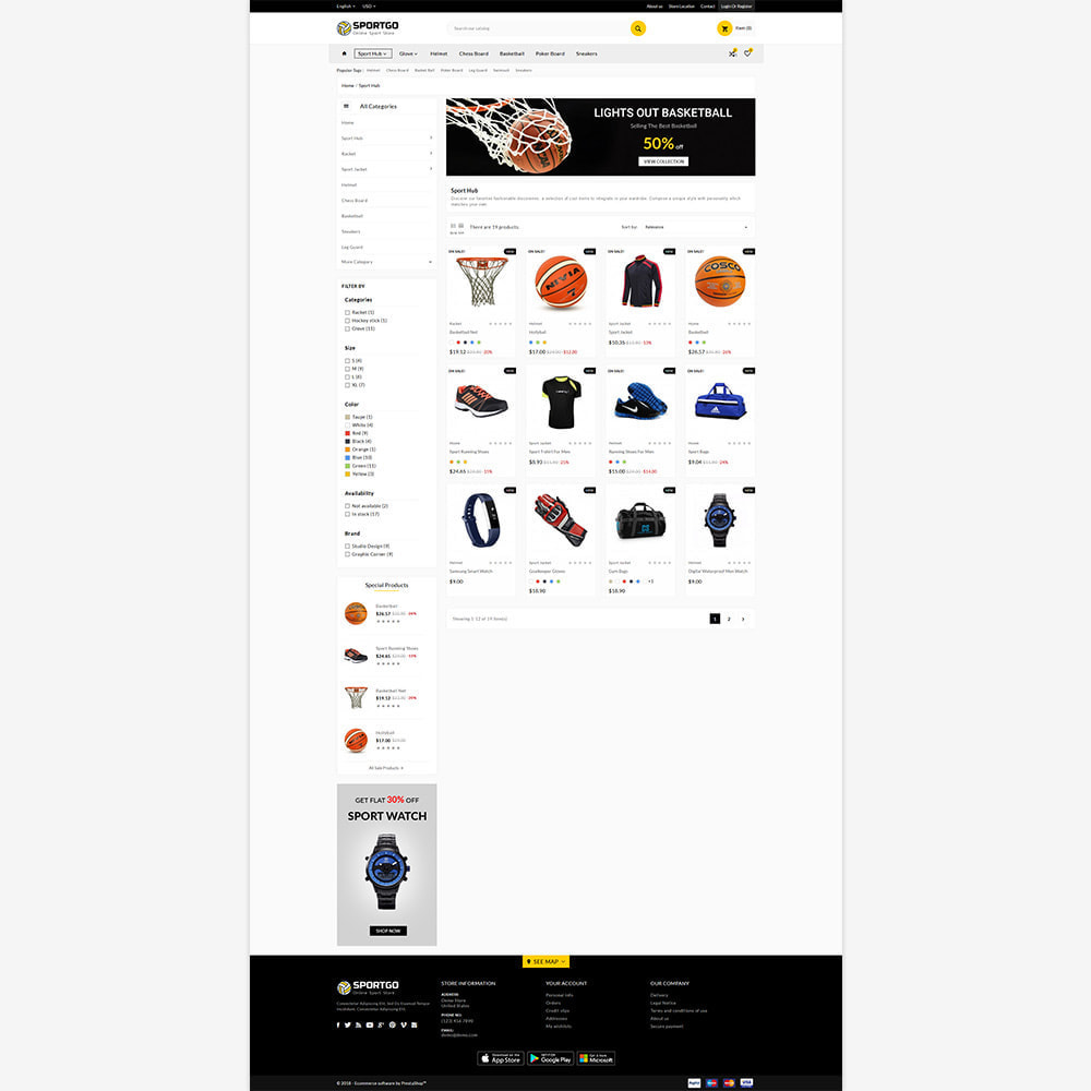 theme - Sport, Loisirs & Voyage - Sports Accessories Shop - 3