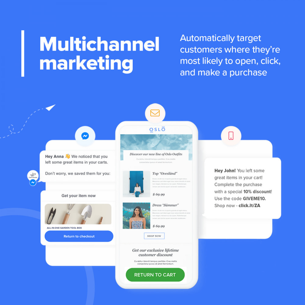 module - Remarketing & Shopping Cart Abandonment - Carts Guru | SMS, email, and FB messenger marketing - 4