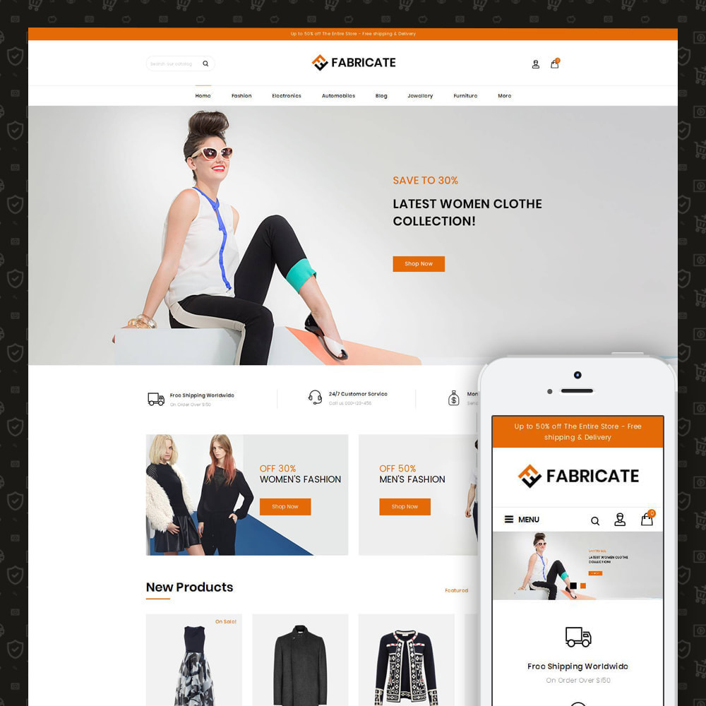 theme - Fashion & Shoes - Fabricate - Apparel Store - 1