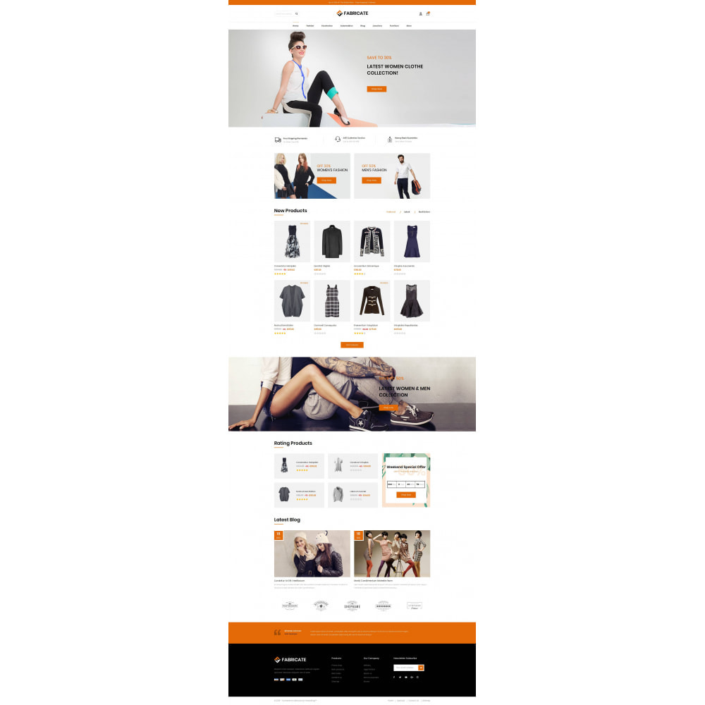 theme - Fashion & Shoes - Fabricate - Apparel Store - 2