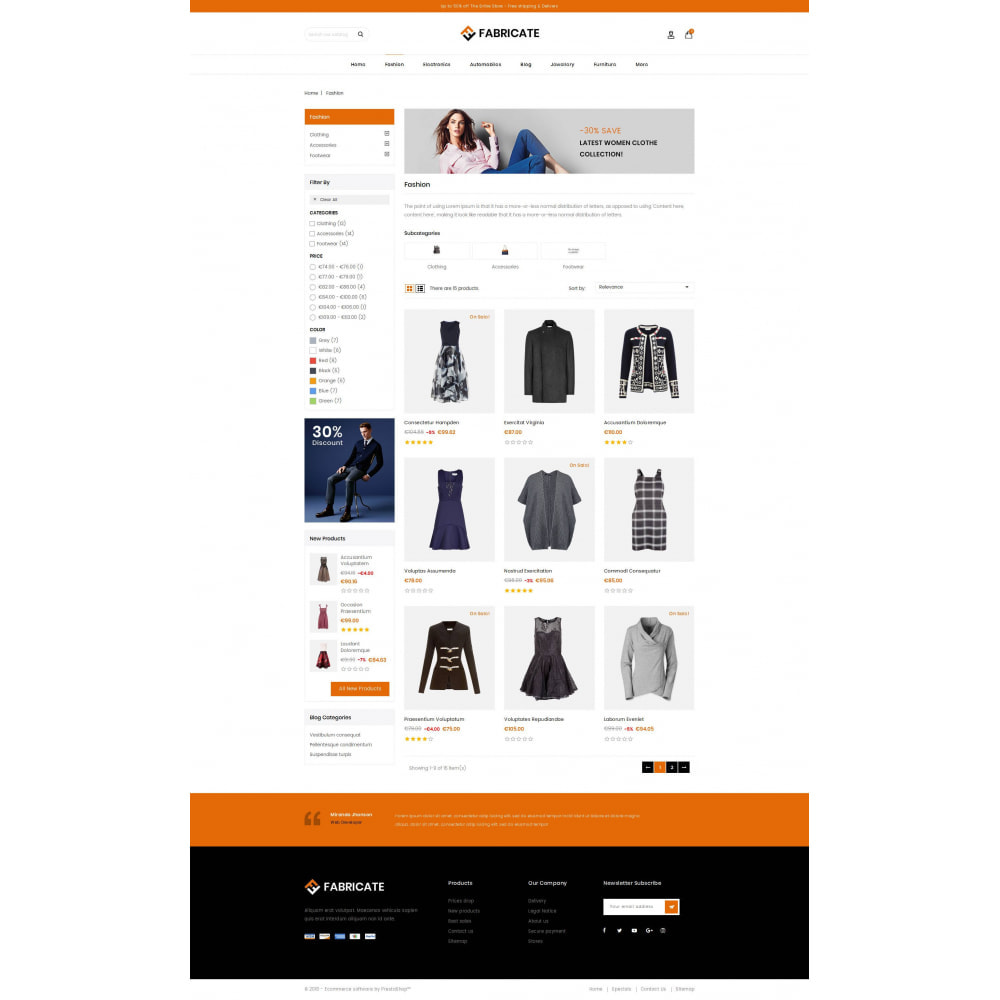 theme - Fashion & Shoes - Fabricate - Apparel Store - 3