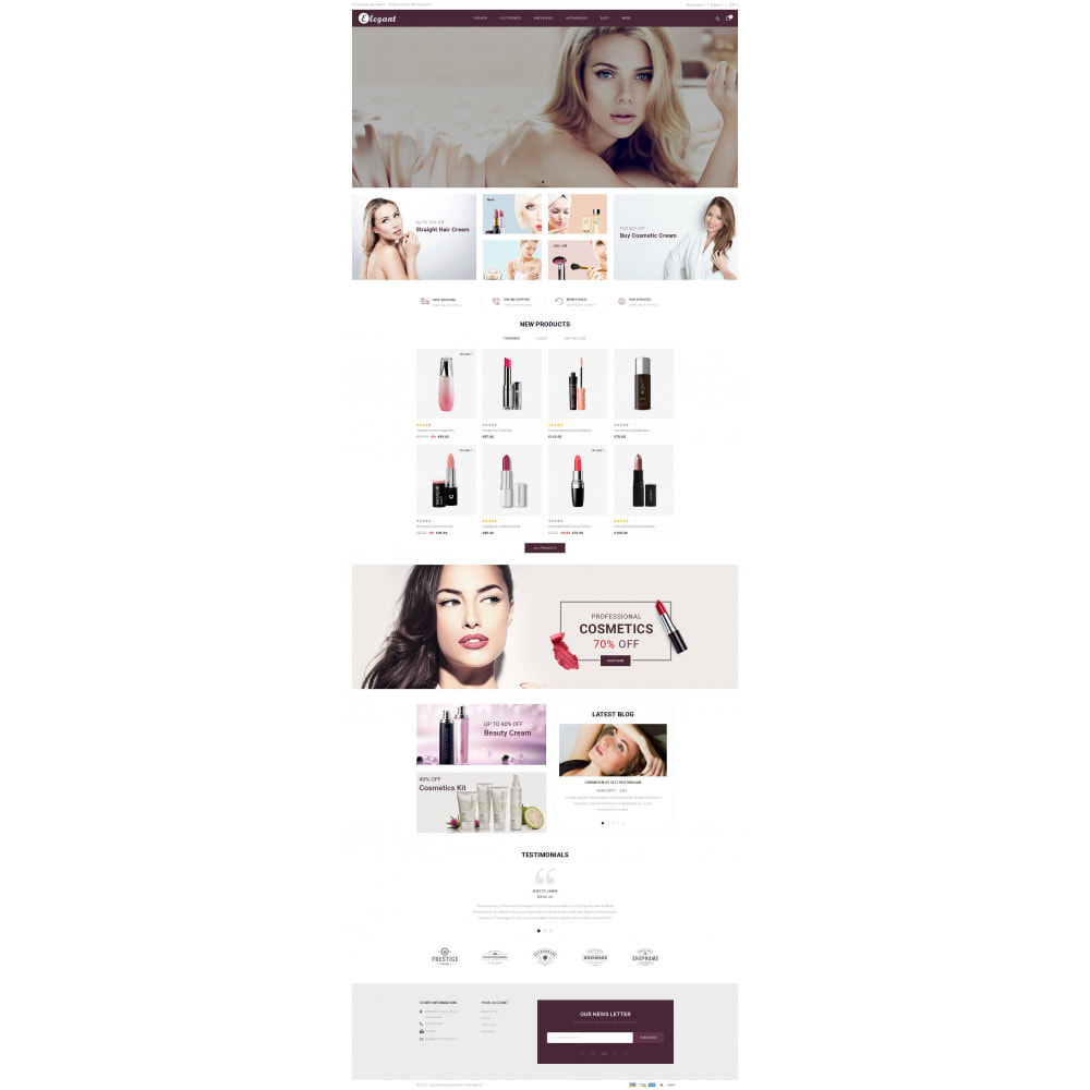 theme - Health & Beauty - Elegant - Cosmetic Store - 2