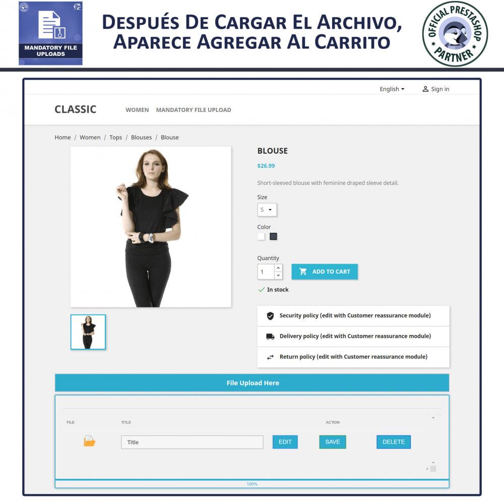module - Informaciones adicionales y Pestañas - Carga De Archivo Obligatoria - 4