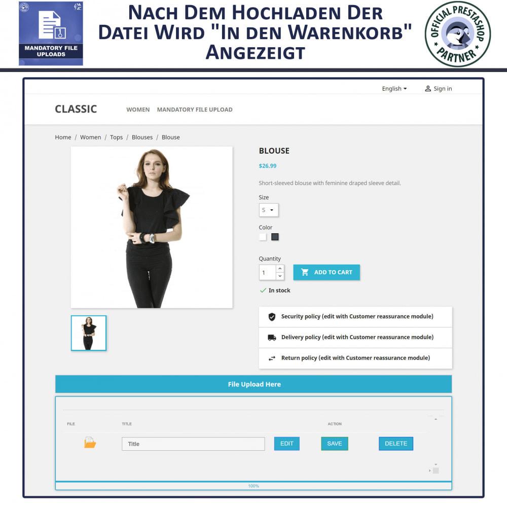 module - Zusatzinformationen & Produkt-Tabs - Obligatorisches Hochladen Von Dateien - 4