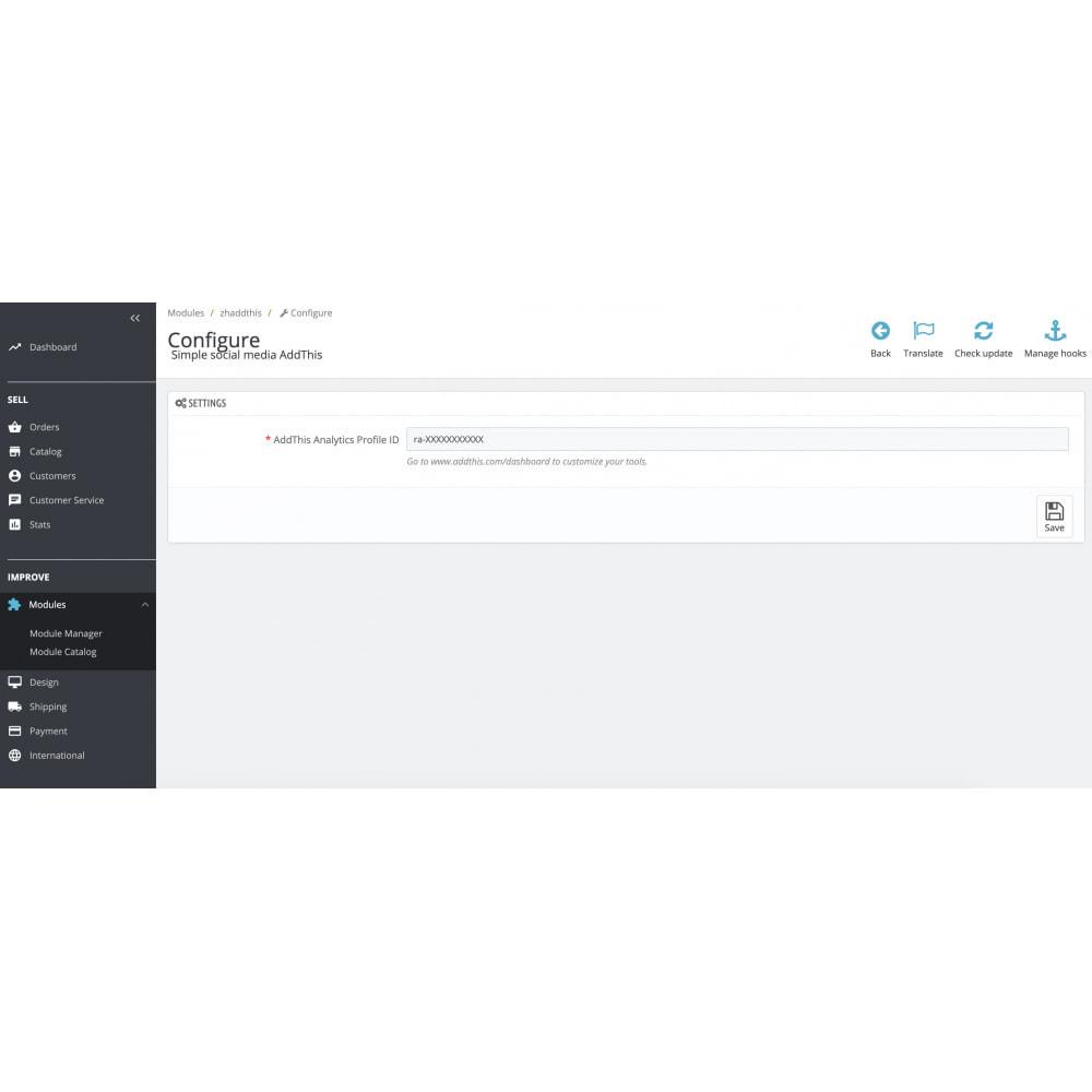 module - Social Widgets - Simple social media AddThis - 1