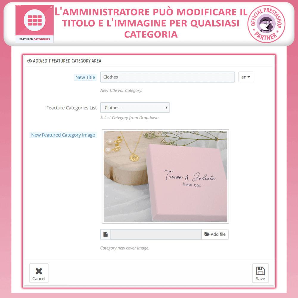 module - Personalizzazione pagine - Categorie in Primo Piano - 8