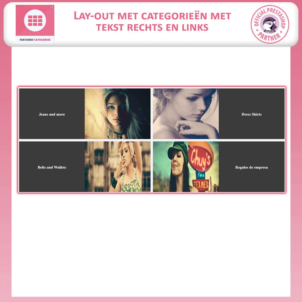 module - Personalisering van pagina's - Uitgelichte Categorieën - 5