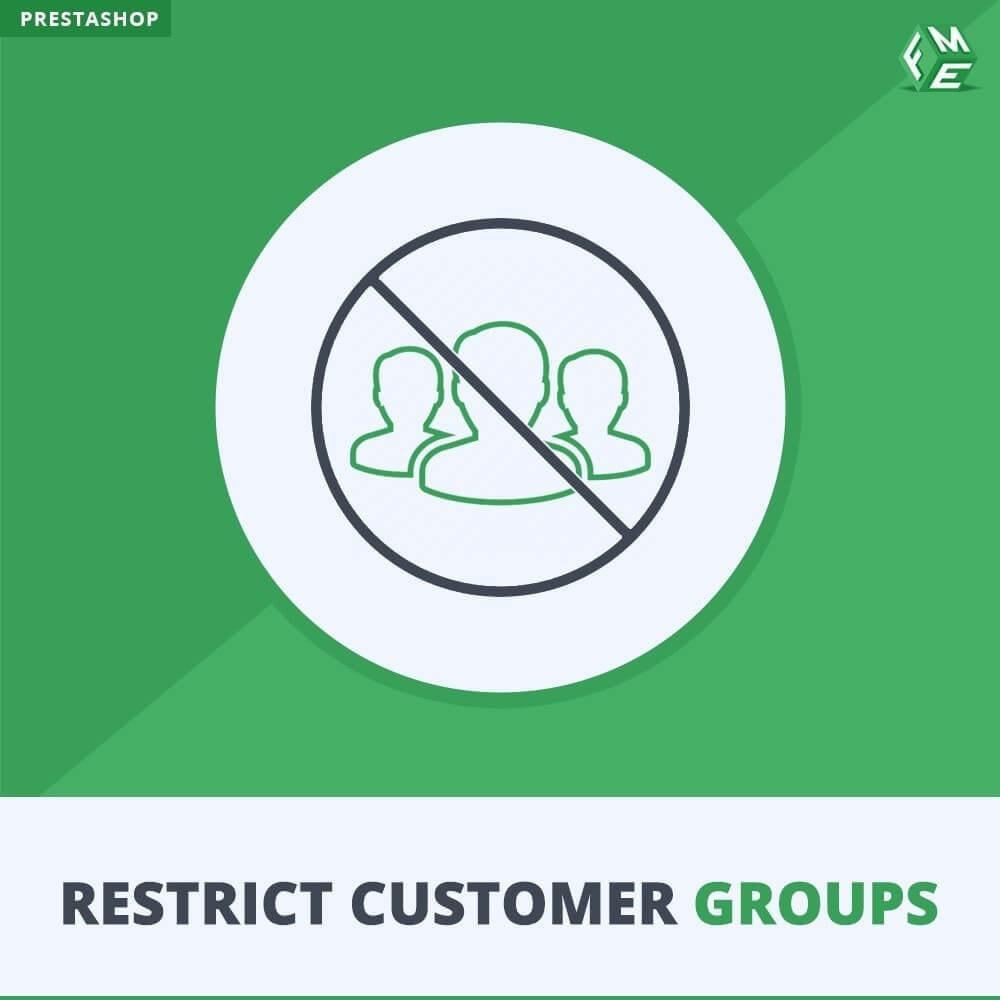 module - Bijkomende Informatie - Beperk producten, categorie en CMS op klantgroepen - 1
