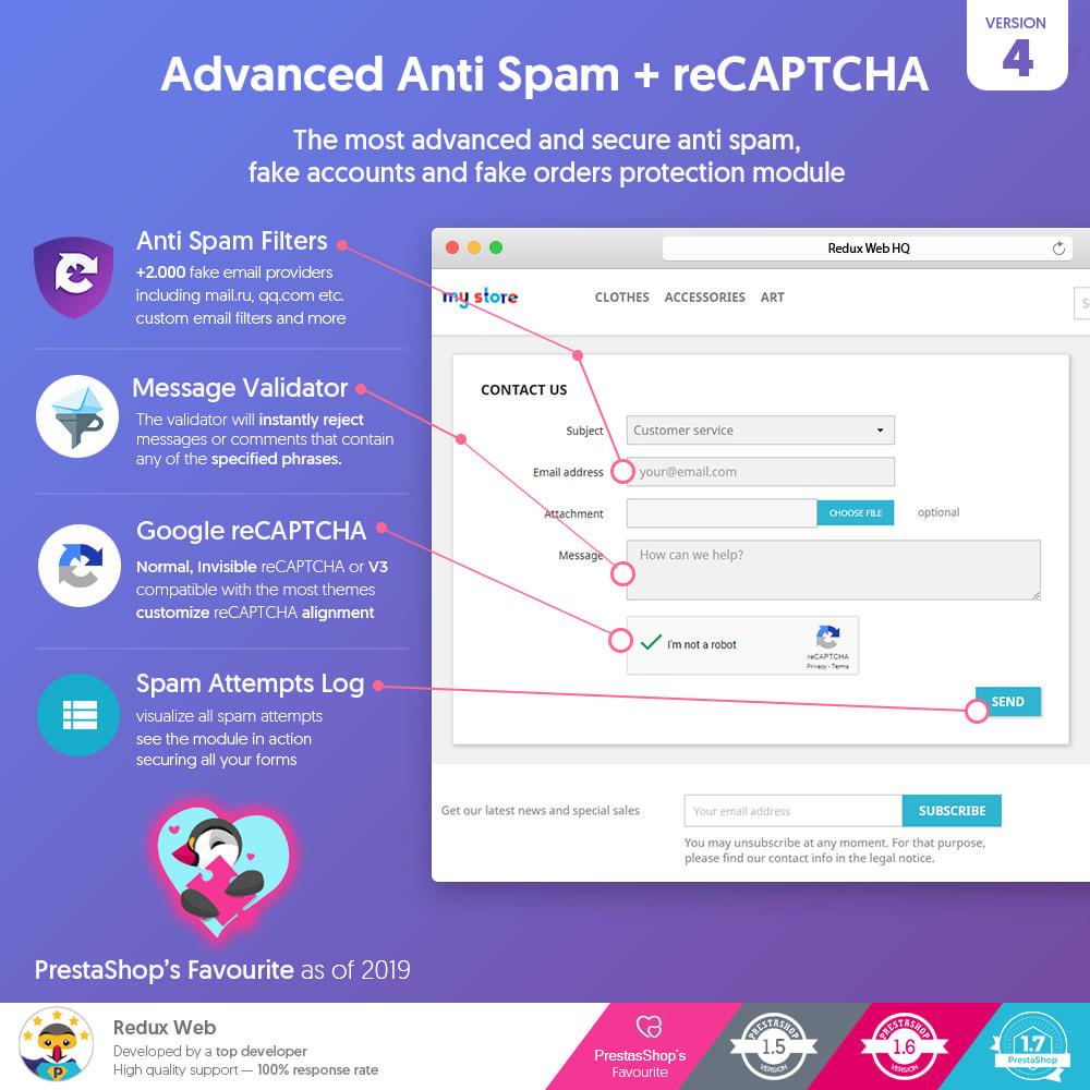 module - Sicherheit & Berechtigungen - Advanced Google Re-Captcha Antispam & Gefälschte Konten - 1