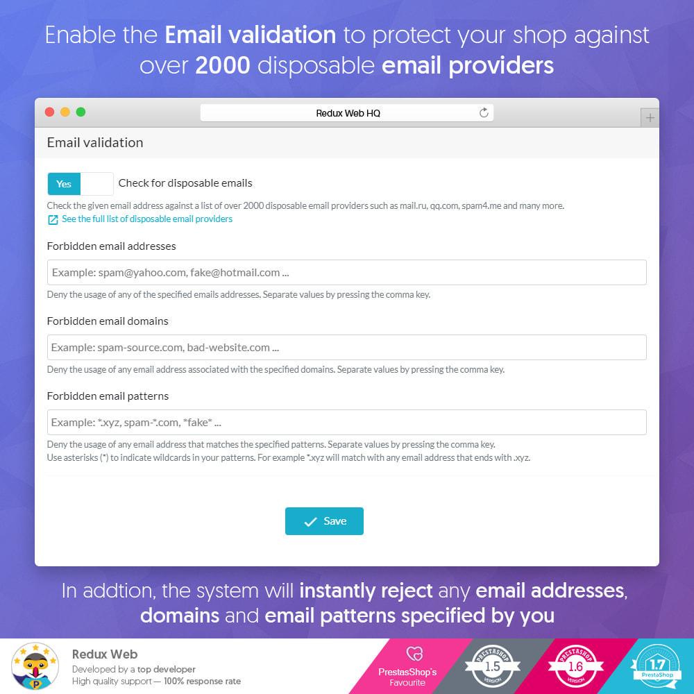 module - Sicherheit & Berechtigungen - Advanced Google Re-Captcha Antispam & Gefälschte Konten - 5