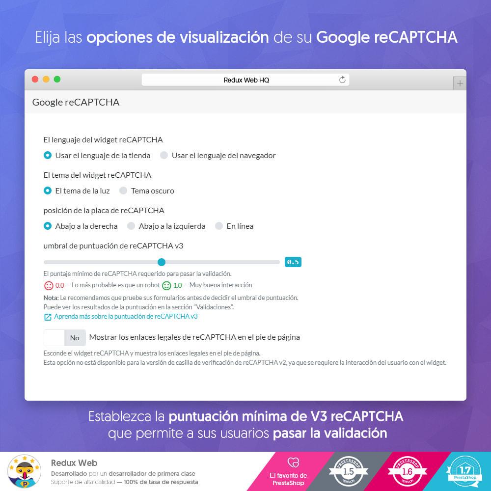 module - Seguridad y Accesos - Avanzado Google Re-Captcha Antispam y Cuentas Falsas - 4